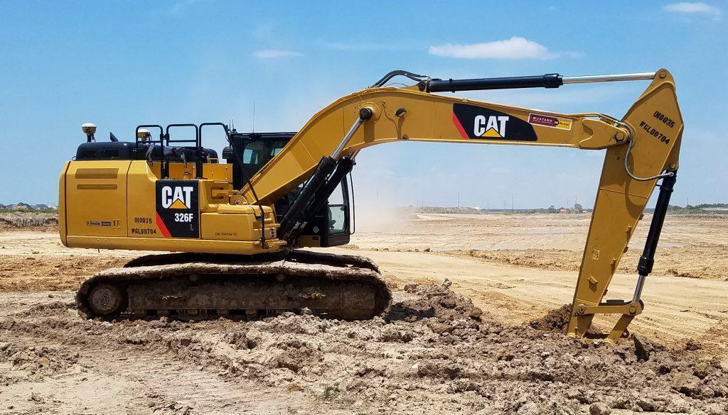 grade control excavator